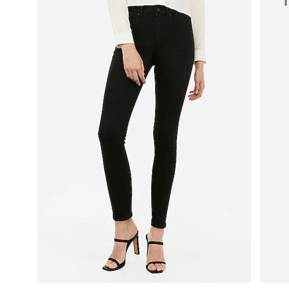 Express Women's Black Jean-legging Denim Pants 8s